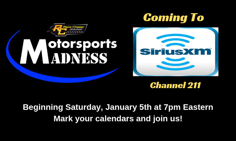 Siriusxm Christmas Stations 2019.Race Chaser S Motorsports Madness Available On Sirius Xm